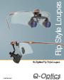 Q-Optics Flip-Up Loupes Brochure